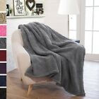 "Plush Sherpa Throw Blanket for Couch 50"" x 60"" Reversible Versatile Lightweight image"