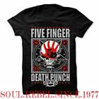 FIVE FINGER DEATH PUNCH  PUNK ROCK BAND  BIG LOGO T SHIRT MEN'S SIZES image
