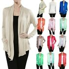 Active Colorful Long Sleeve Soft Lightweight Sheer Flyaway Drape Cardigan AB9447