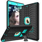 """For iPad 9.7"""" 2018 6th Gen/2017 5th Gen Shockproof Rubber Hard Stand Case Cover"""
