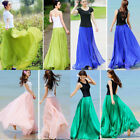 2019 Fashion Women Boho Chiffon Long Maxi Dress Beach Casual Sundress Skirt