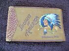 INDIANS OF AMERICA 1935 Leather Bound Booklet Waupaca Wis Fazzini Whitman Publ.