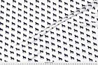 Fresian Horse Friesian Silhouette Fabric Printed by Spoonflower BTY