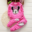 Baby Girl Minnie Mouse Tracksuit Jumper Tops Pants Casual Kid Clothes Outfit Set