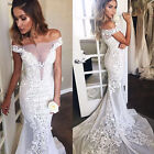 Sexy Off Shoulder Lace Wedding Dresses Plus Bridal Gowns Formal Mermaid 2018 New