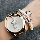 2018 Luxury Women's Fashion  Stainless Steel T bear Wrist Watch