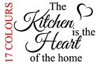 The Kitchen Is The Heart Of The Home Vinyl Decal Sticker Diner Cafe Coffee Shop