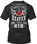 Mom In Heaven For Man And Woman - I Have A Guardian Angel Premium Jersey V-Neck