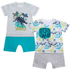 Dinosaurs Baby Faux Short Romper Set Surf Dinosaur Design Newborn To 9-12 Months