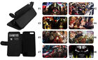 Overlord Anime IPhone Leather Wallet Flip Phone case Anime Samsung S9 LG Apple