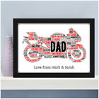 PERSONALISED Motorbike Biker Bike Print Fathers Day Birthday Gift for Dad Daddy