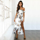 Women Floral Print Long Maxi Dress Fashion Cocktail Party Holiday Summer Beach