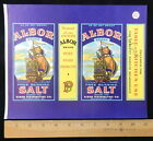 Albor Brand Free Running SALT LABEL for Albor Distribut. Co Philli PA  P06