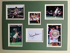 """Tennis Virginia Wade Signed 16"""" X 12"""" Double Mounted Display"""