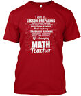 I Am A Math Teacher Poem - Lesson-preparing Hanes Tagless Tee T-Shirt