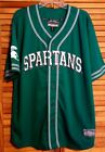 STEVE & BARRY MICHIGAN STATE SPARTANS JERSEY LARGE SEWN EMBROIDERED LOGOS VINTAG