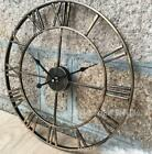 47cm Oversized Big Metal Vintag Wall Clock Retro Wrought Iron Art  Decorative