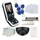 1000 Face Capacity Access Control System Kit & Exit Motion Sensor Magnetic Lock