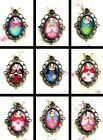RUSSIAN DOLL CHARM NECKLACE OR KEYRING KEYCHAIN CHUNKY WOODEN