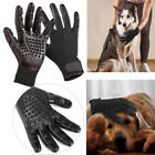 1Pair Horse Pet Dog Bath Comb Cleaner Grooming Gloves Brush Shedding Massage US