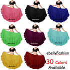 Cotton Gypsy Skirt 4 Tier 25 Yard Belly Dance Tribal Jupe Flamenco 21 colors