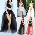 4 Layers 100cm Long Women Tulle Skirts Wedding Bridal Skirt Ball Gown TUTU Skirt