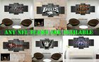 WOOD LOOK 5 PIECE CANVAS NFL FOOTBALL TEAMS ART DECOR WALL POSTER HIGH QUALITY $249.99 USD on eBay