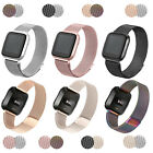 2 Pcs 2x Stainless Steel Metal Milanese Mesh Wrist Watch Band for Fitbit Versa
