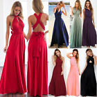 Women Cocktail Dress Convertible Multi Way Wrap Bridesmaid F