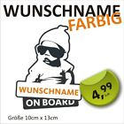 Aufkleber mit Wunschnamen Baby on Board Kind an Bord Baby Name Auto Hangover VW