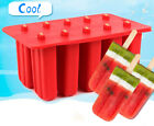 10 Cell Frozen Ice Cream Mould Popsicle Maker Mould Tray Pan Kitchen Pop Mold