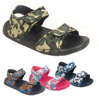BOYS GIRLS INFANTS KIDS CHILDREN ARMY CAMOUFLAGE SPORTS SUMMER SANDALS UK SIZE