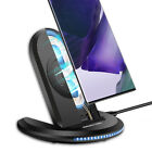 Qi Wireless Fast Charger Charging Pad Stand For Samsung S8 S9 S10+ iPhone XS XR