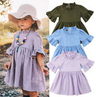 baby girl dresses boutique - US Boutique Toddler Baby Kids Girl Princess Summer Casual Dress Sundress Clothes
