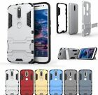 Slim Hybrid Stand Armor Dual Shield ShockProof Defender Back Case Moto Z
