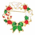 Fashion Chirstmas Garland Bowknot Brooch Pin Women Children Home Party Jewelry