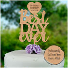 Happily Ever After PERSONALISED Wooden Wedding Cake Topper Decoration Mr & Mrs