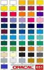 "12"" Oracal 651 Vinyl  5 ft long- Choose any color"