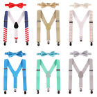 Suspender and Bow Tie Matching Set Tuxedo Wedding Suit Party for Baby Kids Boys