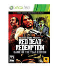RED DEAD REDEMPTION GAME OF THE YEAR Microsoft XBox 360 Game