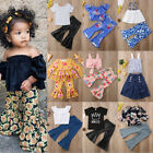 Baby - Flared Pants Outfits Kid Baby Girl Top Vest Mini Dress+Loose Leggings Clothes US