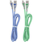 8Pin Charger Cable Cord Braided Wire Fast Charging For Apple iPhone X 8