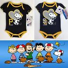 Pittsburgh Pirates San Diego Padres Baby One Piece Body Suit Peanuts Snoopy NWT