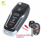 Upgraded Flip Remote Key Fob 433MHz G for Autralian Toyota Highlander 2006-2011
