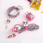 DIY Wire Rope Protection Set USB Cable Earphone Winder For iphone