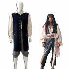 Hot!Pirates of the Caribbean Jack Sparrow Vestito cosplay costume