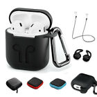 5 Accessories Charging Silicone Case Bag Strap Carabiner Hook For Apple Airpods