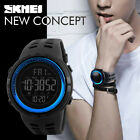SKMEI Men's Digital Watch LED Alarm Countdown Timer Sport Army Quartz Wristwatch image