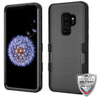 Samsung GALAXY S9 /PLUS Hybrid Rugged Protective Rubber Pone Case Cover BLACK