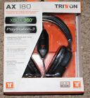 Tritton TRIAX-180 AX 180 Stereo Gaming Headset for Xbox 360 Playtation 3 NEW